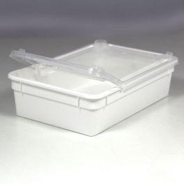 BraPlast 18.5 x 12.5 x 5.0 cm 0.8 Litros, Blanco o Transparente.
