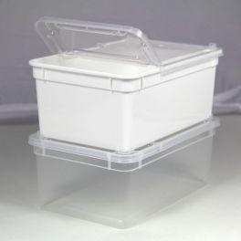 BraPlast 18.5 x 12.5 x 7.5 cm 1.3 Litros, Blanco o Transparente.