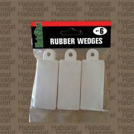 HabiStat. Rubber Wedges, Cuñas de Goma para Puertas. Pack 6.