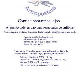 Comida para renacuajos - 50g - Fórmula Amphineeds.