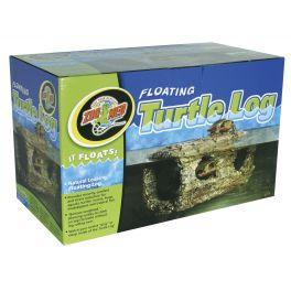 Tronco flotante Floating Turtle Log, Zoomed.