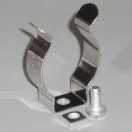 Clip de retención para tubos fluorescentes, 1 unidad.