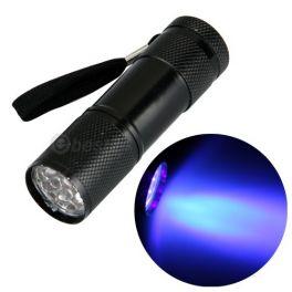 Linterna 9 LEDS, ultravioleta.