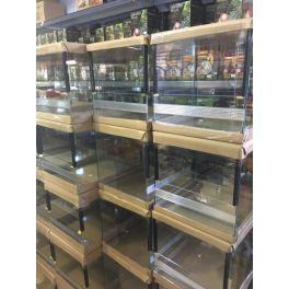 Terrarios de cristal guillotina, doble ventilación (plancha perforada).