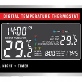 Habistat Digital Temperature Thermostat D/N + Temporizador